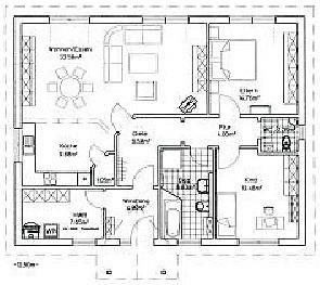 NOVUM Bungalow, Wohnfläche Nach DIN: 104,22 M²